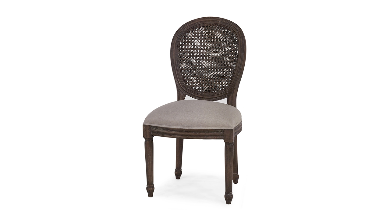 Picture of: Tulip Rattan Back Dining Chair W O Fluted Leg